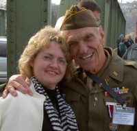 Anna Rosmus with veteran Micky Dorsey. Via Wikipedia.