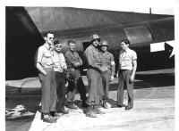 B-17 at Linz Airport, 365th Med Bn, Co. B Medics