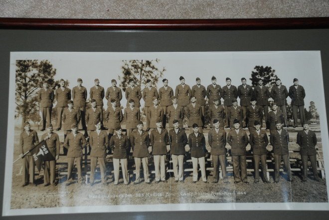 Officers of the 65th Division's 365th Medical Battalion, at Camp Shelby MI