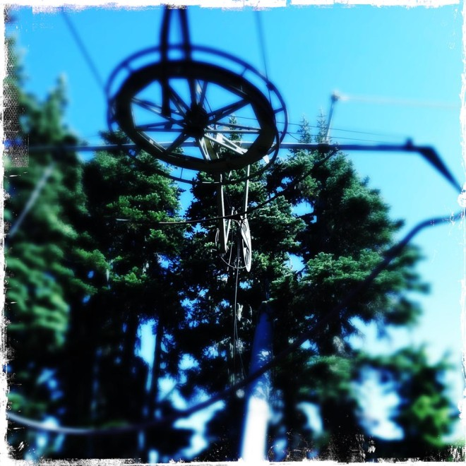 Abandoned ski lift on Hurricane Ridge.