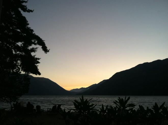 Sunset over Lake Crescent.