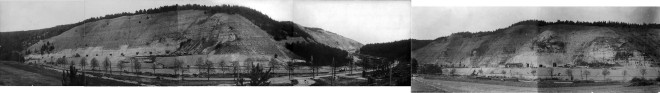 Panorama of the Jonastal site. Courtesy of Stiftung Gedenkstatten Buchenwald und Mittelbau-Dora