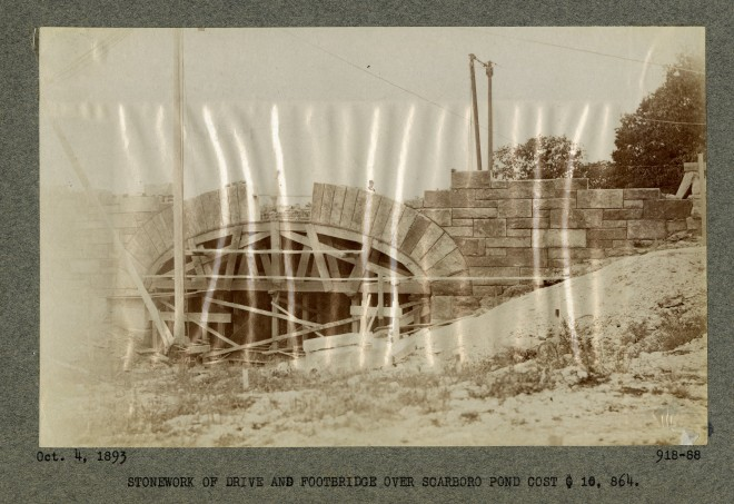 View of the Carriage Bridge under construction in 1893.